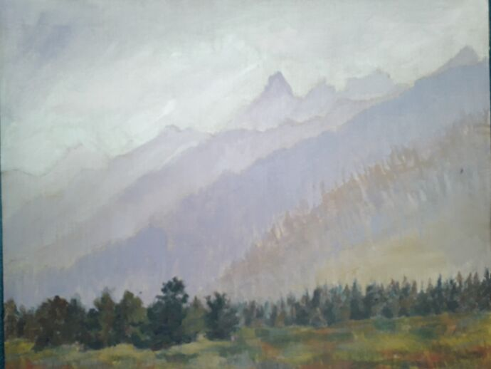 Grand Teton, Acrylic