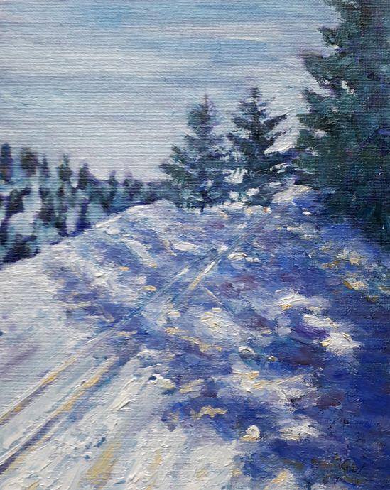 Memories of a Ski Holiday (Oils)