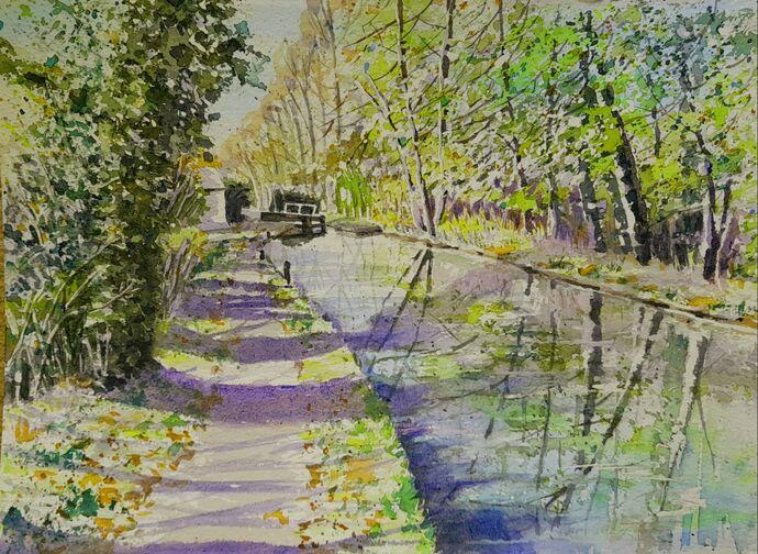 Autumn on the Canal near Lapton