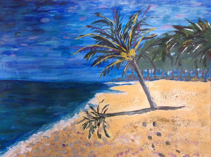 Beach Acrylic Workshop
