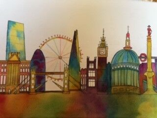 London Skyline in Watercolour