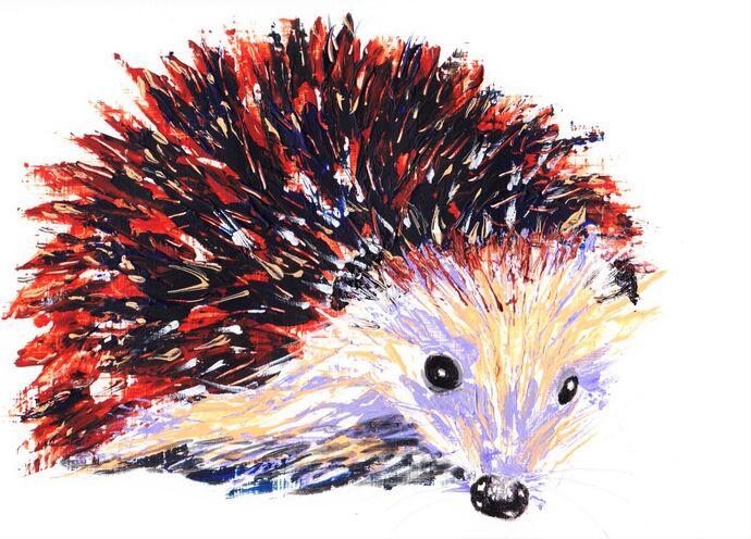 Acrylic Hedgehog step by step