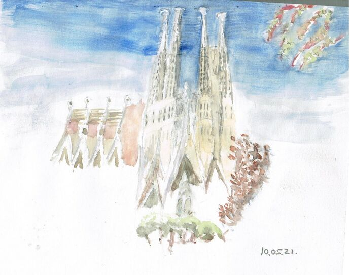 Barcelona Sketch and Watercolour
