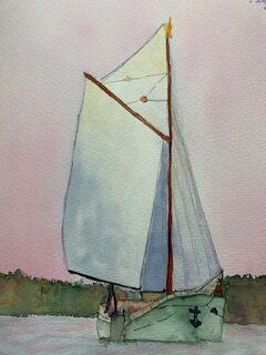 Sailing Boat in Watercolour