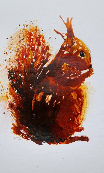 Squirrel in Acrylic Inks