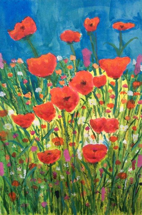 Poppyseed watercolour