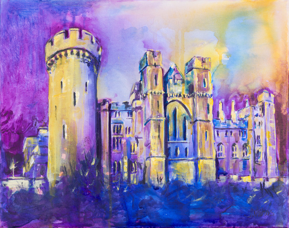Looking up at Arundel Castle by Joy Withers