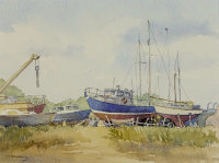 Boat Jumble by Judith Armstrong