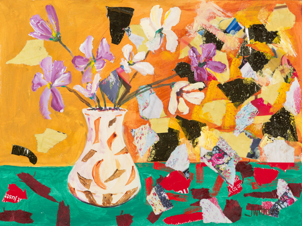 Flower collage by Joy Withers