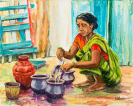Indian pots by Joy Withers