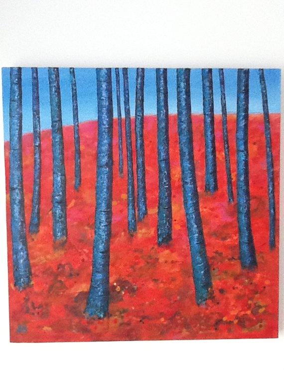 """Fourteen trees"" by Lesley Ann-Gotts"