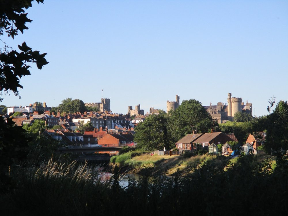 View of Arundel from the river bank