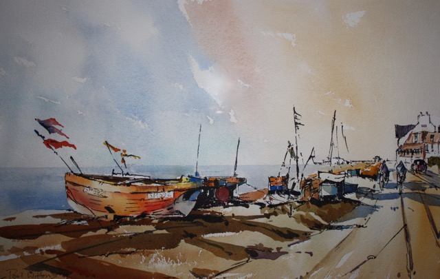 """Fishing boats at Worthing"" by Paul Witton"