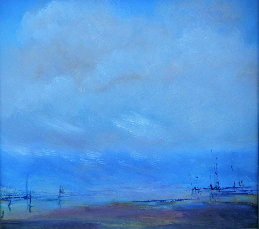 Low tide in the Channel by Susie Olford