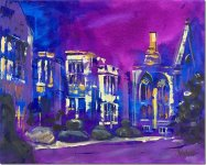 Nymans with a purple sky by Joy Withers