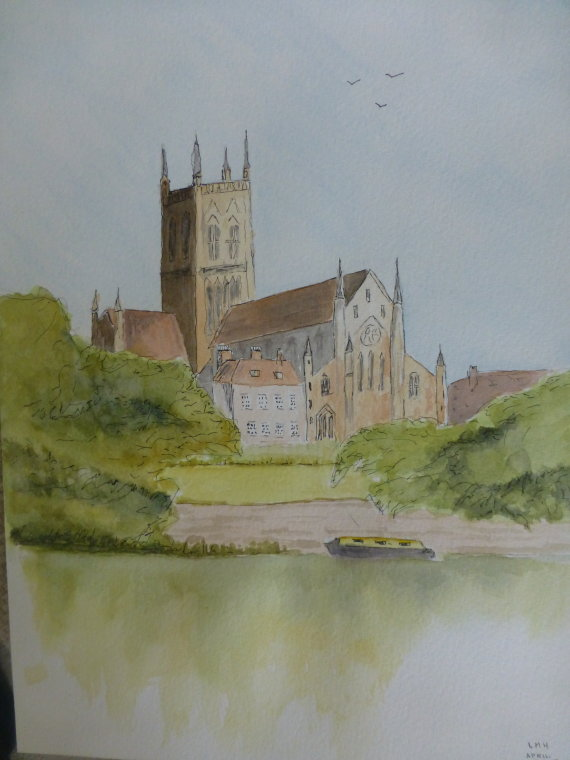 Worcester Cathedral by Laurie Hearn