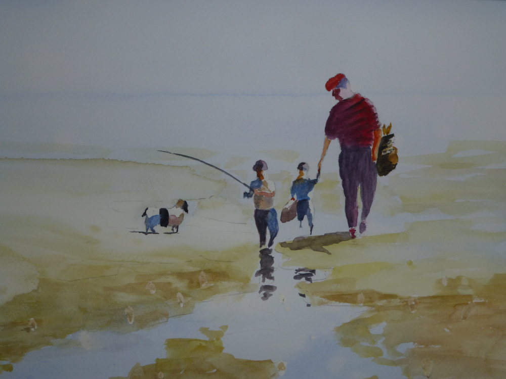 On the beach by Laurie Hearn
