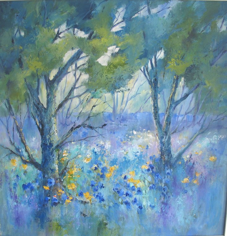 Spring woodland by Caryl Smith