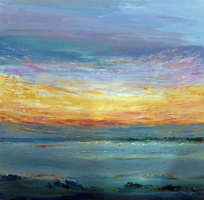 Sunset breakwater by Susie Olford