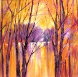 Sunset trees by Caryl Smith