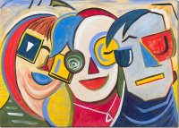 Three bright faces by Joy Withers