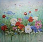 Floral meadow by John McBrien