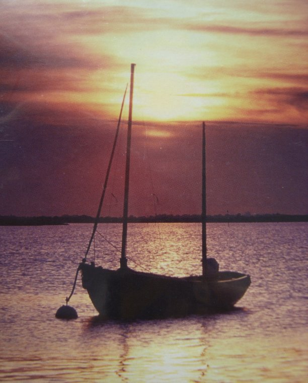"""Moored in the sunset"" by Vic Davis"