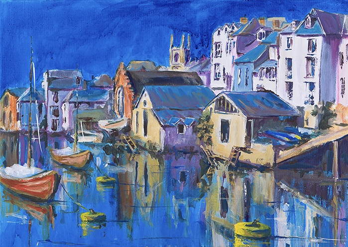 Fowey, Cornwall by Joy Withers
