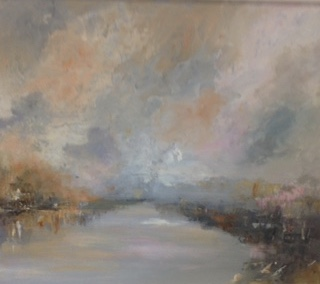 Storm brewing,Arun River by Pauline Lovell