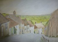 Gold Hill, Shaftesbury by Laurie Hearn