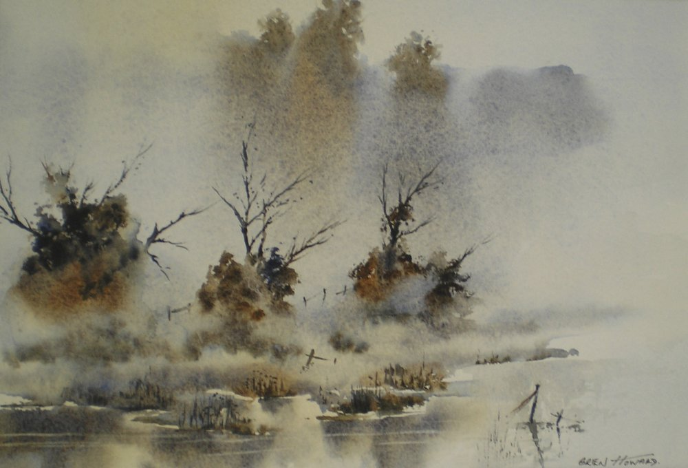 When icy mists fall by Brien Howard