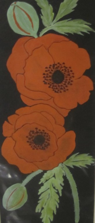 Red poppies by Jo Faggetter