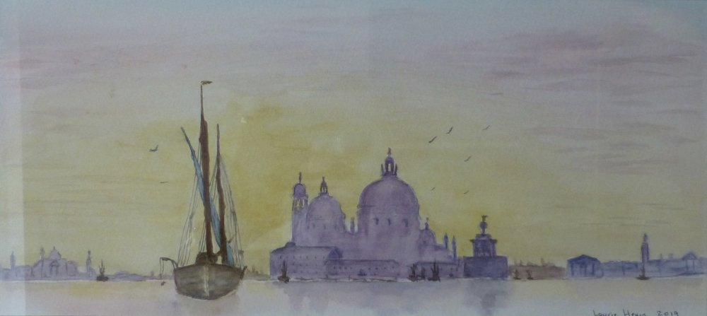 Venice at twilight by Laurie Hearn