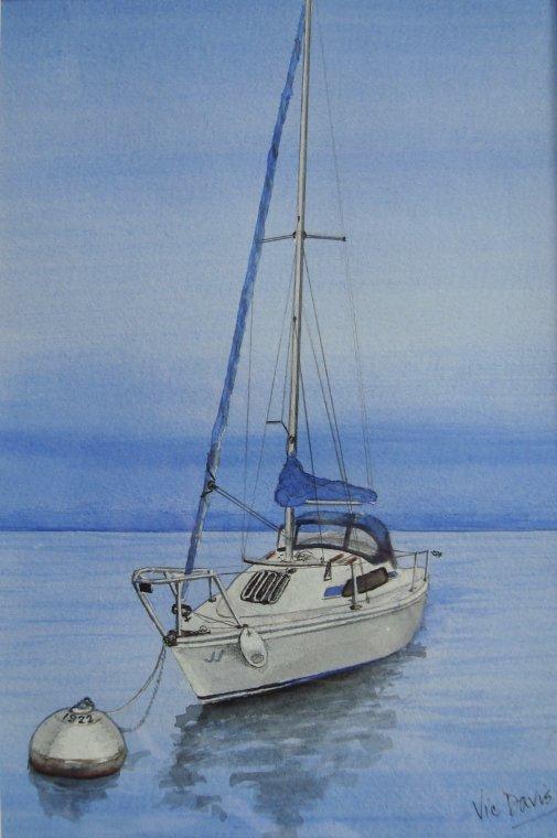 JJ moored by Vic Davis