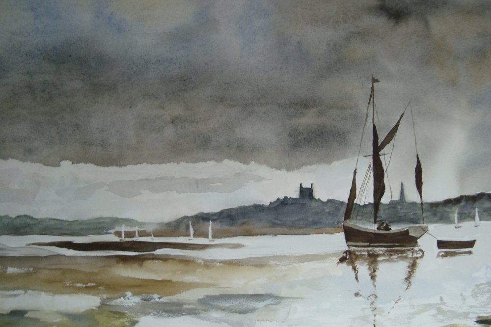 London barge by Vic Davis