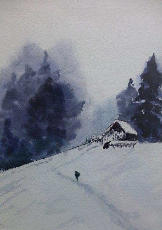 Seeking winter refuge by Laurie Hearn