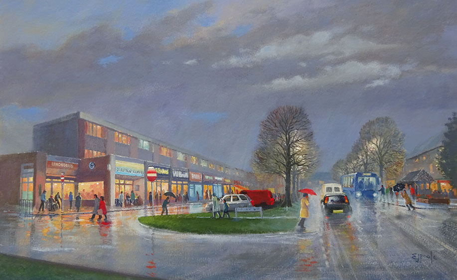 Rustington - the Street by Ted Poole
