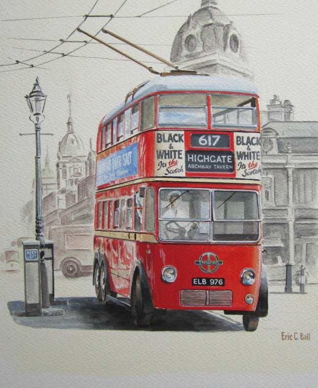 Trolley bus by Eric Ball