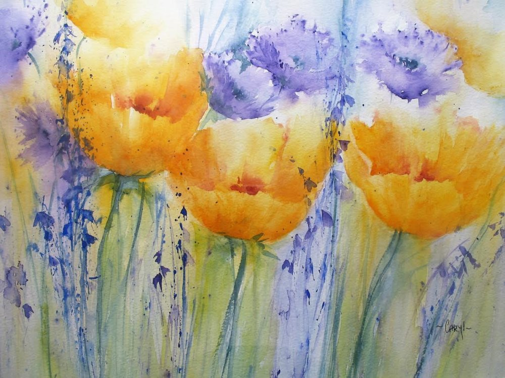 """""""Purple and gold"""" by Caryl Smith"""