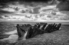 SS Nornen on Berrow Sands