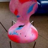 chair modern art 'Plum Loco'