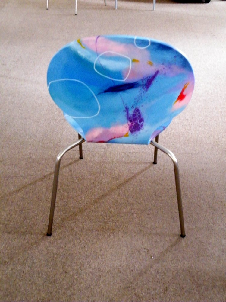 abstract art chair