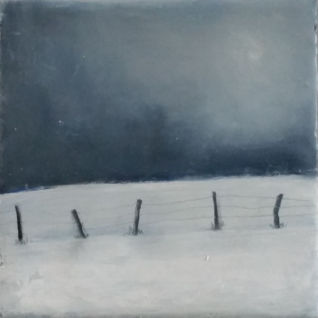 snow on the moor