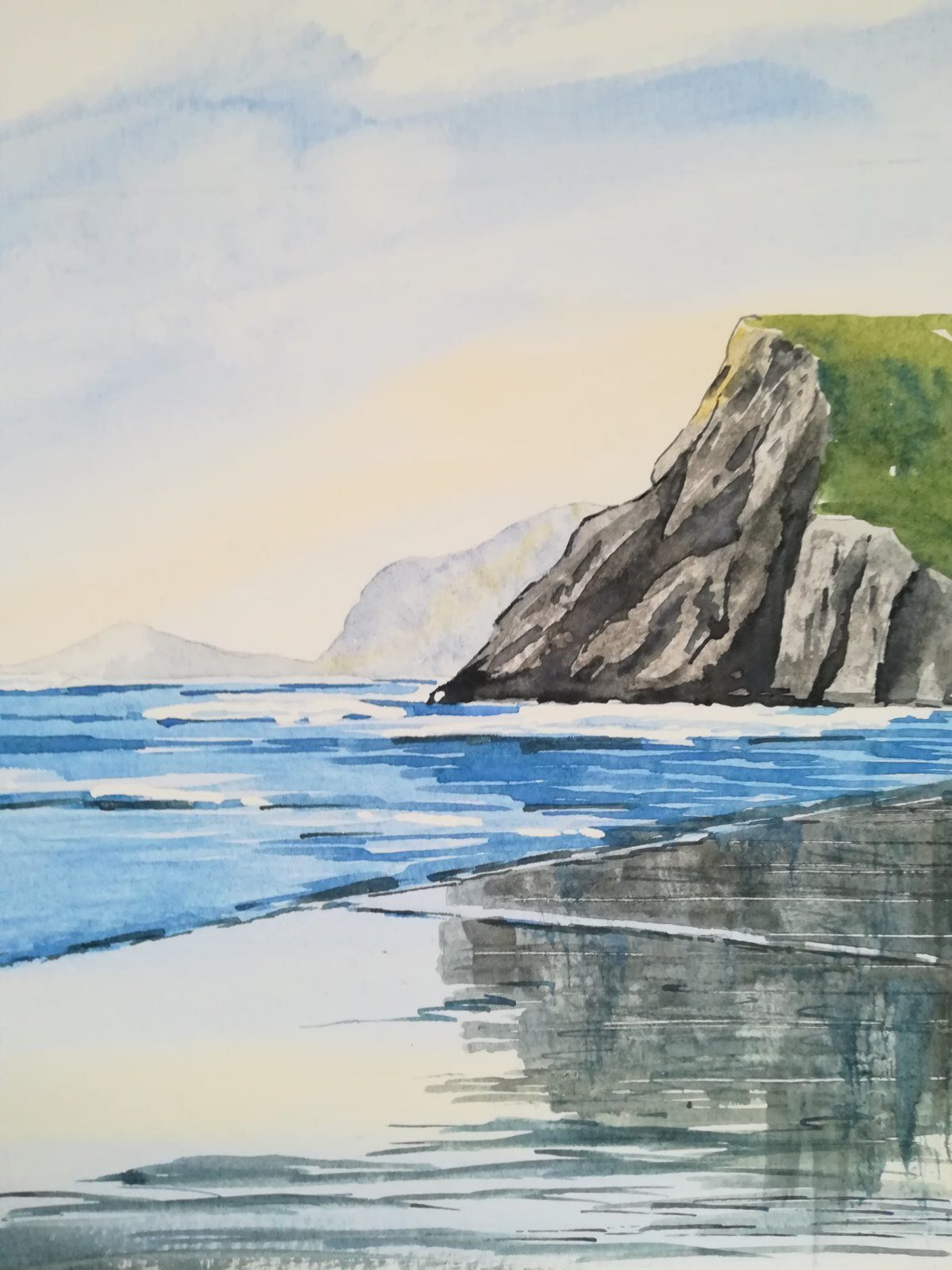 Cliff in the Sand (portrait) - £125.00