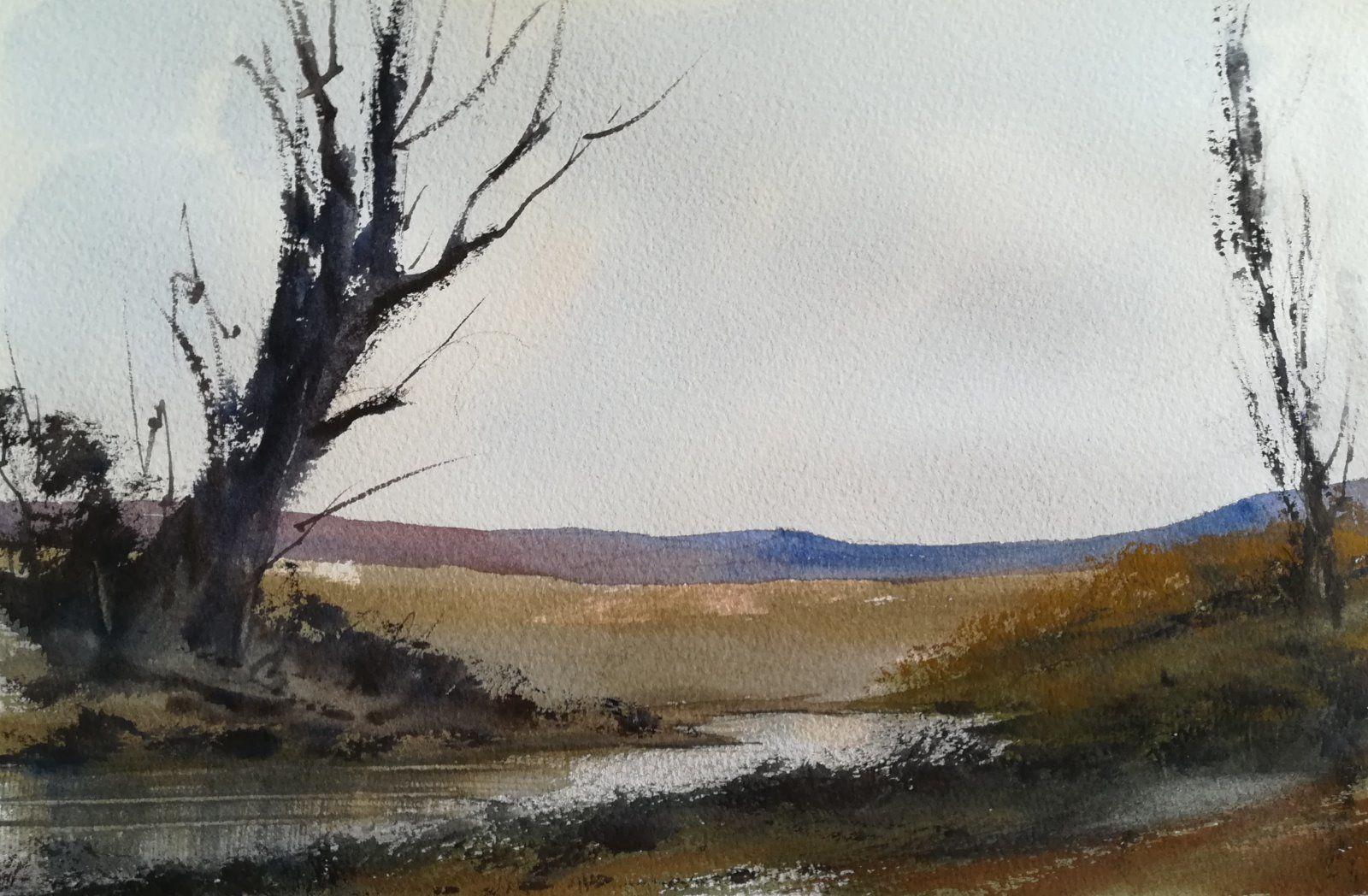 Distant Hills - £195.00 (Framed)