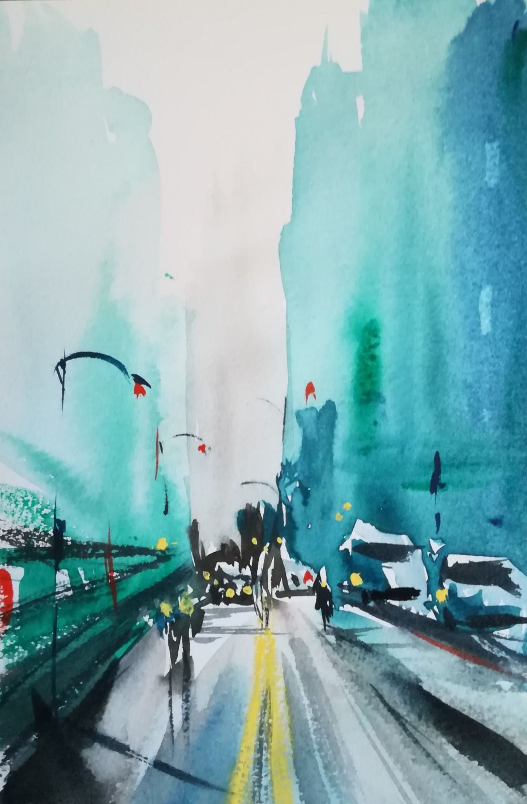 SOLD ~ City Street, New York - (Framed) - £100.00