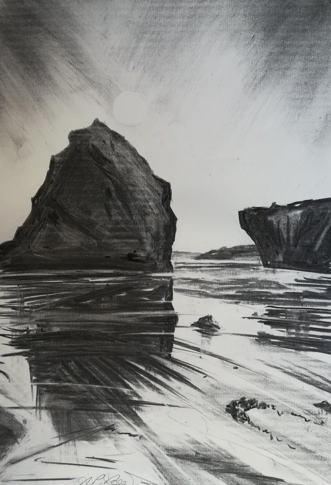Pismo Beach, California ~ graphite on paper  £195.00