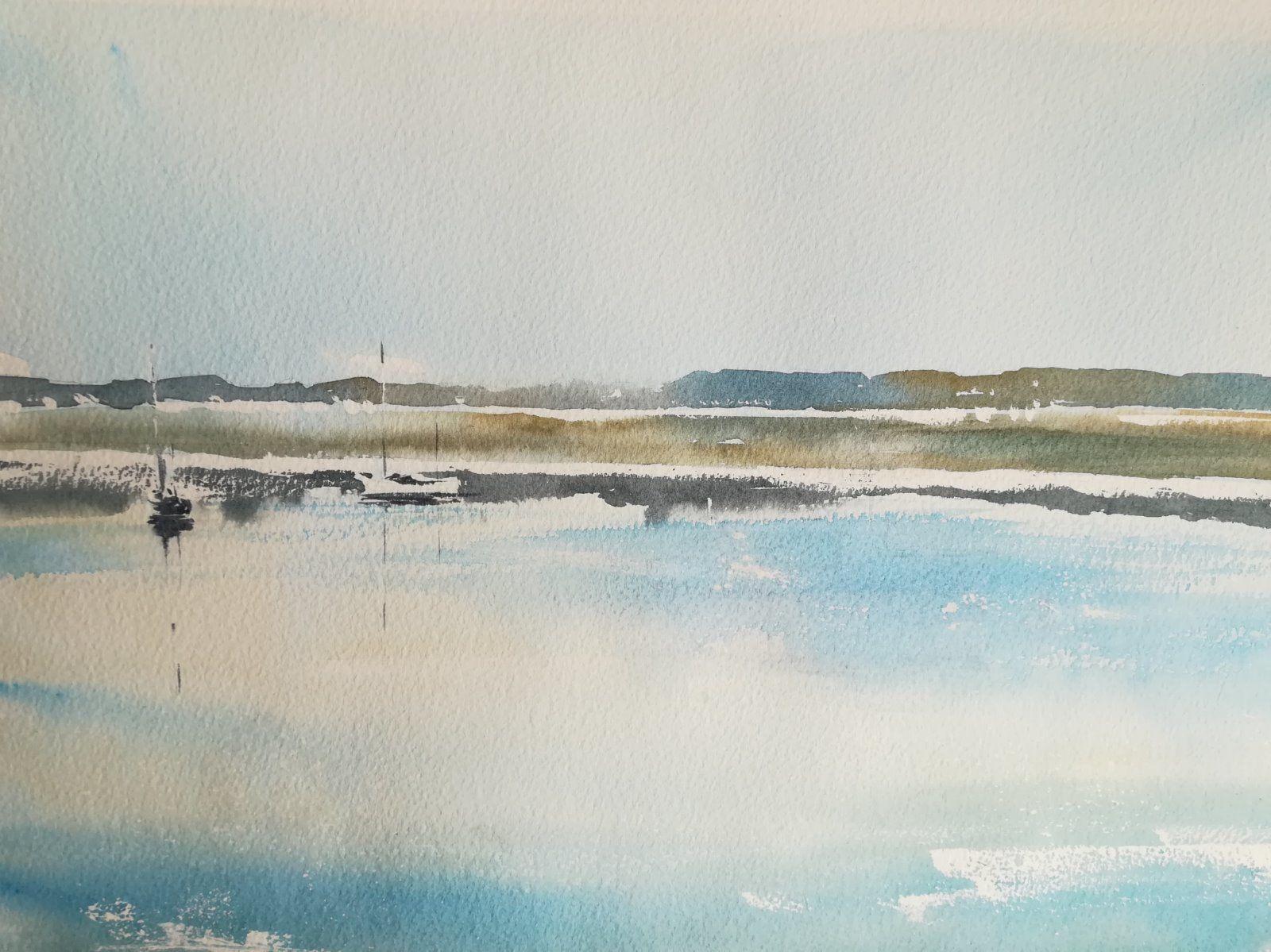 By the Quay, Topsham Estuary, Devon (En Plein Air) - £195.00