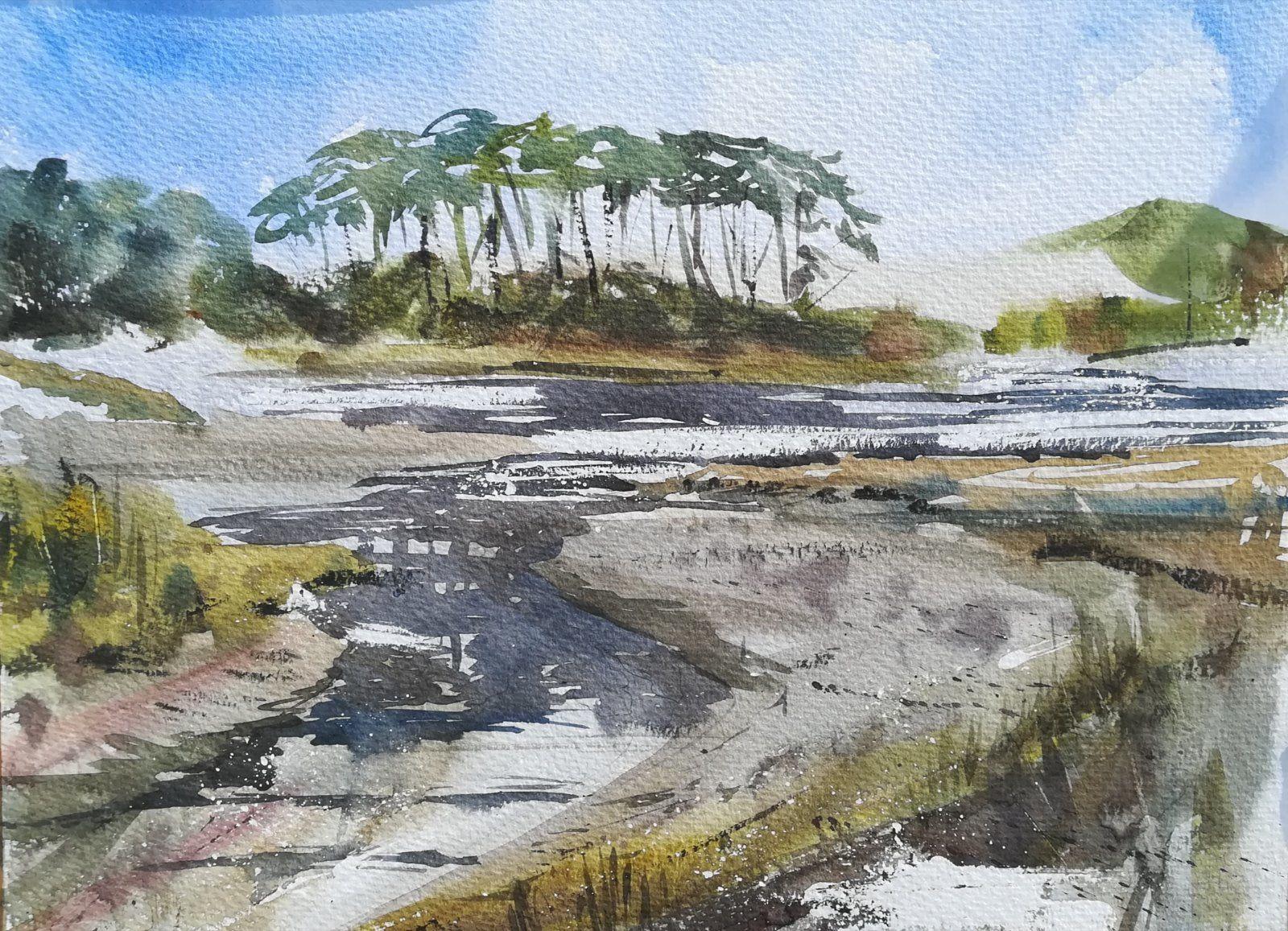 Otter Head - Budleigh Salterton. Devon En Plein Air - £195