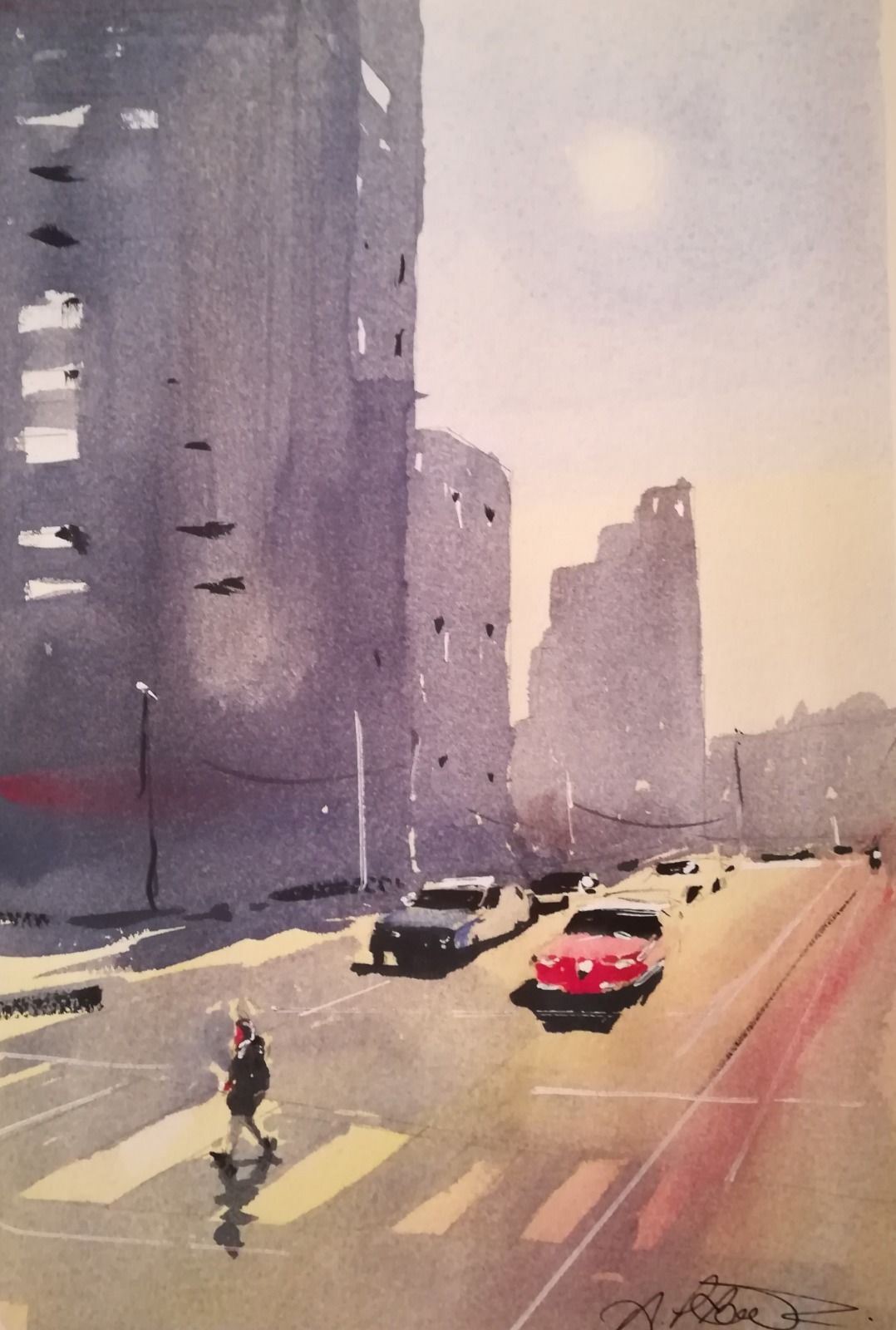 "Streetlife ~ Watercolour 11 x 7"" approx. £160.00"
